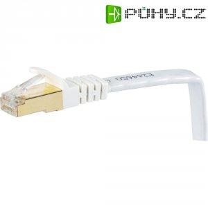 Patch kabel, CAT 7 U/FTP, RJ45, vidlice ⇔ vidlice, bílá, 20 m