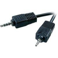 Připojovací kabel SpeaKa, jack zástr. 2.5 mm/jack zástr. 3.5 mm, černý, 2,5 m