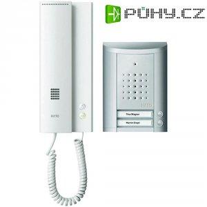 Domácí telefon Ritto Schneider, 1841220, 2 rodiny, stříbrná