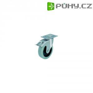 Otočné kolečko s konstrukční deskou a brzdou, Ø 160 mm, Blickle 632117, LEX-POEV