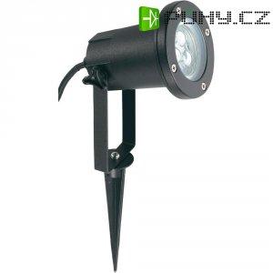Venkovní zahradní LED reflektor, 3x 1 W, černá