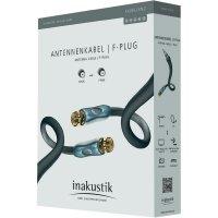 Satelitní kabel F konektor vidlice ⇒ vidlice, > 120 dB, 1,5 m, anthracit, Inakustik