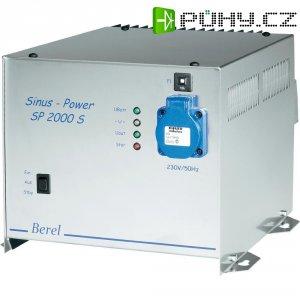 Sinusový měnič napětí DC/AC Berel SP 2000S-12, 12V/230V, 2000 W