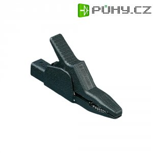 Bezpečnostní krokosvorka Hirschmann AK 2 B 2540 I, 10 mΩ, 1000 V, černá