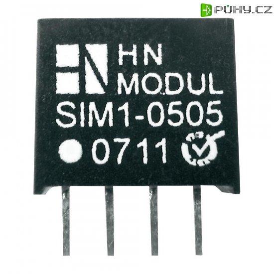 DC/DC měnič HN Power SIM1-1205 -SIL4, vstup 12 V, výstup 5 V,200 mA, 1 W - Kliknutím na obrázek zavřete