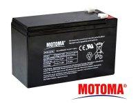 Baterie olověná 12V 7,5Ah MOTOMA (konektor 6,35 mm)