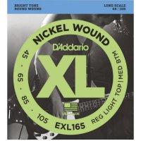 Kovové struny na baskytaru D´Addario EXL 165, 045 - 105
