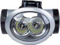 Svítilna LED 2x 8mm,čelovka,napájení 3xAA