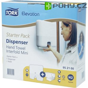 Startovací sada - zásobník na ručníky Tork Interfold Mini + náplň