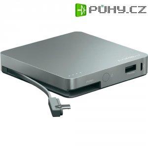 Mobilní akumulátor PowerTube Mipow, 8000 mAh, šedý