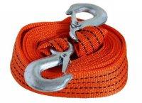 Tažné lano-popruh 3m s háky