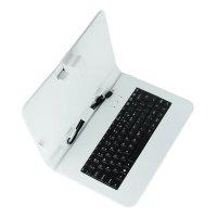 "Pouzdro na tablet 10"" s klávesnicí s mini/micro USB, bílé"