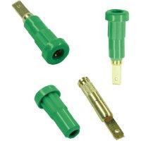 Laboratorní konektor Ø 2 mm MultiContact 23.1011-25, zásuvka vestavná vertikální, zelená