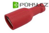 Zdířka faston 6.3mm izol., vodič 0.5-1.5mm červená - Kliknutím na obrázek zavřete
