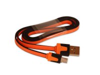 Kabel USB - Micro USB plochý ORANGE 80 cm CPA