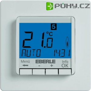 Programovatelný termostat s LCD pod omítku Eberle FIT-3R, 5 až 30 °C, bílá
