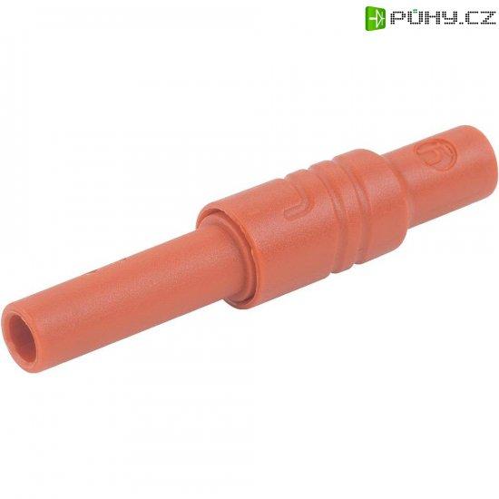 Bezpečnostní zásuvka SKS Hirschmann 934096101, rovná, Ø 4 mm, červená - Kliknutím na obrázek zavřete