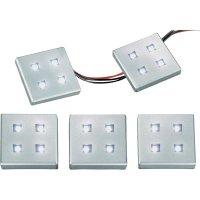 Sada vestavných LED osvětlení, 4 ks, hliník