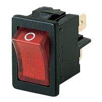 Kolébkový spínač Marquardt 1855.1102, 2x vyp/zap, 250 V/AC, 4 A, červená/černá
