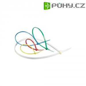 Reverzní stahovací pásky KSS CV200A, 200 x 3,6 mm, 100 ks, transparentní