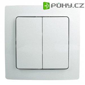 Bezdrátový nástěnný vypínač Paris 2/4 Free Control, 822302025, 30 m, 2kanálový