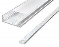 AL profil pro LED + plexi k přisazení pro více pásků, délka 1m