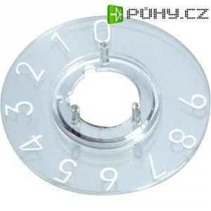 Kruhová stupnice OKW, vhodná pro knoflík Ø 16 mm, rozsah 0-11, transparentní