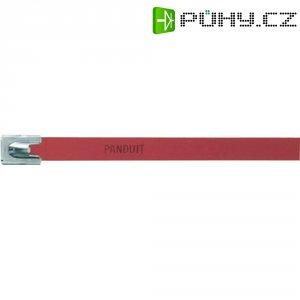 Hliníkový stahovací pásek 140 x 7,9 mm, červený, Panduit-MLT1H-LPALRD 222 N 1
