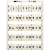Karta pro značení Wago 793-5504, bílá