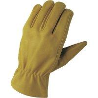 Pracovní rukavice z usně FerdyF., velikost XL (10), hnědá
