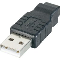 Adaptér USB 2.0, A /Mini-B, černý