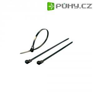 Stahovací rozepínací pásky KSS HVCR250BK, 250 x 7,6 mm, 100 ks, černá