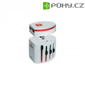 Cestovní adaptér EVO s USB Skross, 1.302101, bílá