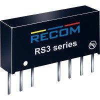 DC/DC měnič Recom RS-1212D, vstup 9 - 18 V/DC, výstup ±12 V/DC, ±83 mA, 2 W