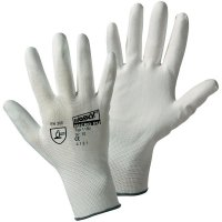Pracovní rukavice Leipold + Döhle 1150, nylon s polyuretanovým nátěrem na dlani, velikost 7