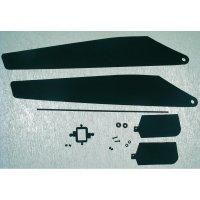 Listy hlavního rotoru včetně sady pádel 04-002 / 009 / 018 / 022