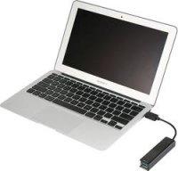 USB 3.0 / USB 2.0 kombinovaný hub pod omítku 425846 4 porty, 17 mm, černá