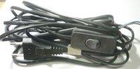 Flexo s volným koncem 2x0,5mm 2m černá s vypínačem
