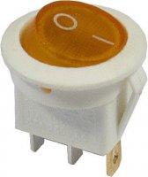 Vypínač kolébkový ON-OFF 1p.250V/6A žlutý prosvětlený