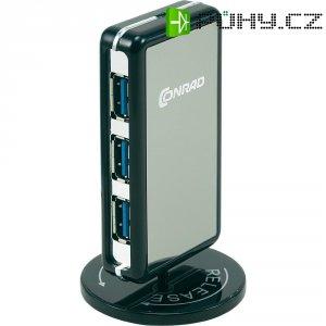 USB hub se sítovým adaptérem, 4x USB 3.0