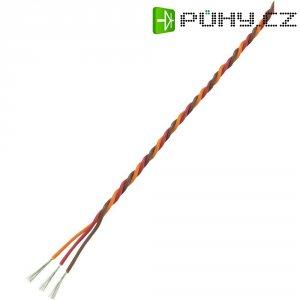 Servo kabel kroucený Modelcraft, 5 m, 3 x 0.3 mm², hnědá/červená/oranžová