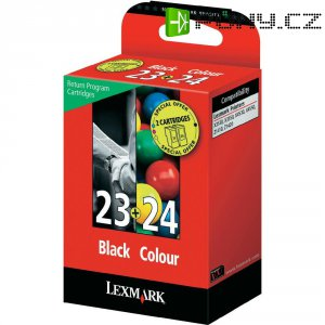 Cartridge Lexmark 23,24, 18C1419, žlutá/cyan/magenta/černá