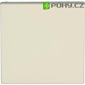 Zásuvka s krytkou Jung, LS 520 KL, krémově bílá, německý typ