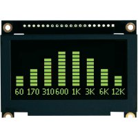 OLED displej, VGG12864L-S005, 5,7 mm, zelená/černá