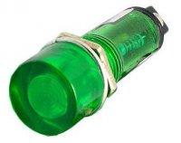 Kontrolka LED 12V, zelená do otvoru 10mm
