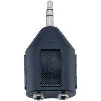 Jack adaptér BKL Electronic 1102014, zástrčka 3,5 mm na 2x3,5 mm zdířka