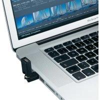Adaptér USB 2.0, úhlový, A/A, černý