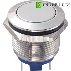 Tlačítko antivandal bez aretace TRU COMPONENTS GQ19F-10/J/N, 48 V/DC, 2 A, mosaz, 1x vyp/(zap)
