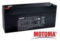 Baterie olověná 6V/ 3,2Ah MOTOMA bezúdržbový akumulátor