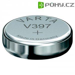 Knoflíková baterie 397, Varta SR59, na bázi oxidu stříbra, 00397101111